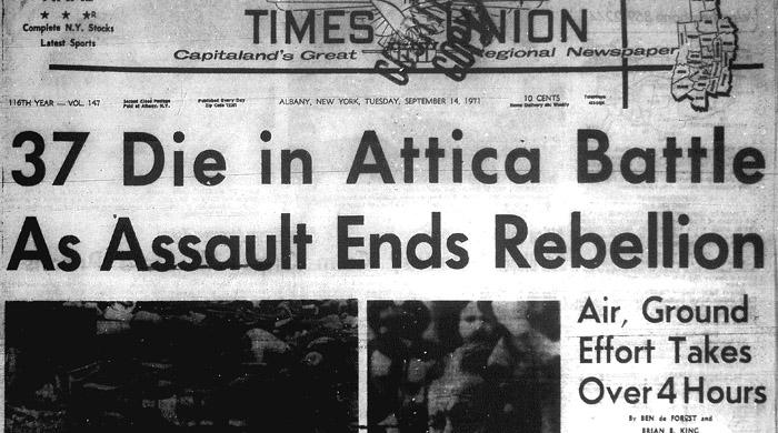 Albany Times Union Attica headline image