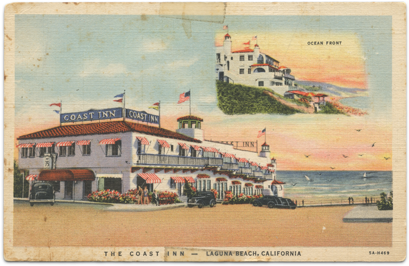 Coast Inn postcard